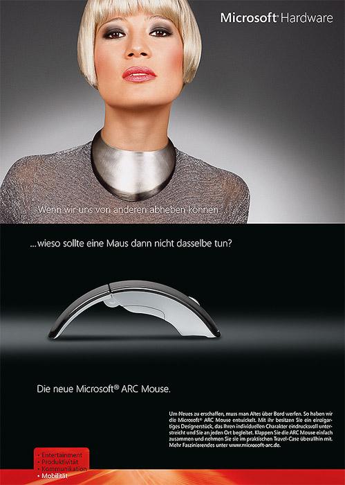 Werbekampagne für Microsoft